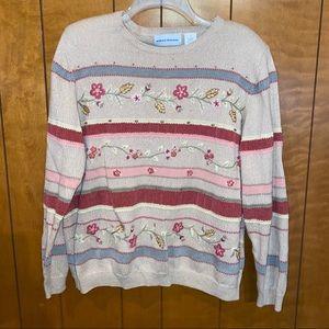 Women's vtg Alfred dunner sweater sz L